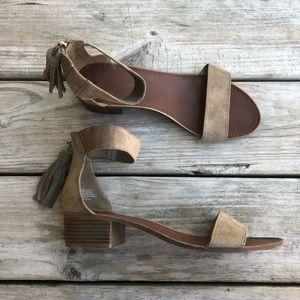 Rock & Candy Olive Green Tassel Sandals